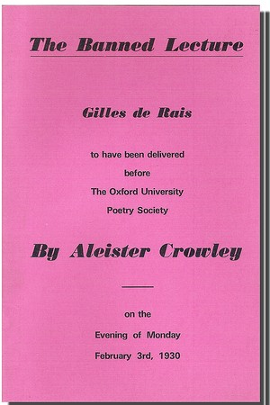 Cover of the printed version of the Banned Lecture
